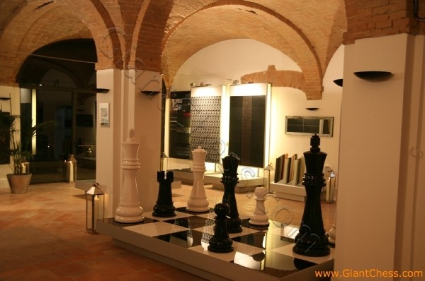 Our 48 Wooden Chess Set As Furniture Decoration In Italy